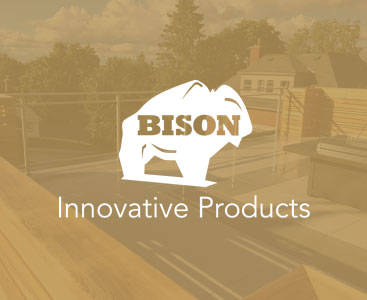 bison deck with railing