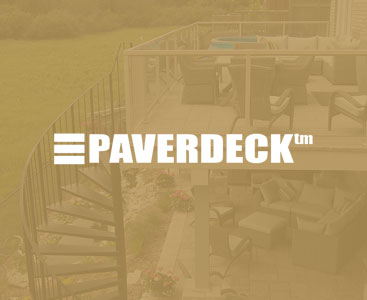 paverdeck deck with stairs