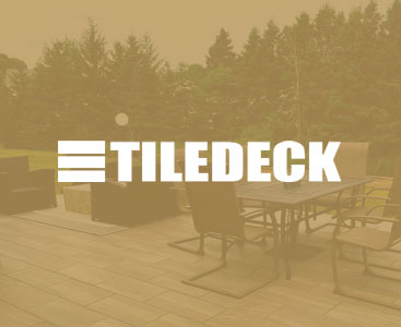 deck tiles with furniture