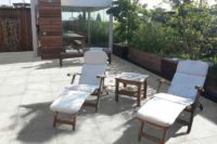 kronos ceramiche patio with chairs